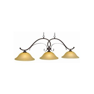 "Hawthorn Collection 3-Light 56"" Oil Rubbed Bronze Billiard Fixture HAW-B56 ORB"