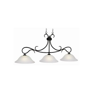 "Randall Collection 3-Light 56"" Matte Black Billiard Fixture RAN-B56 MB"