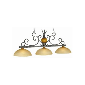 "Regatta Collection 3-Light 56"" Gilded Silver Billiard Fixture REG-B56"