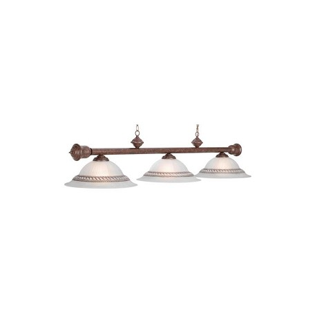 "Corda Collection 3-Light 60"" Old Brown Billiard Fixture with Stainless Accents RG460 OB"