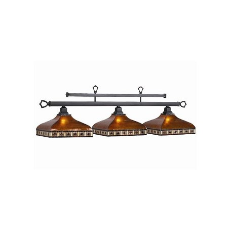 "Tahoe Collection 3-Light 56"" Amber Billiard Fixture with Mica Shade TAH-B56"