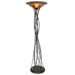 "Light On Life Collection 1-Light 74"" Caramel / Black Floor Lamp ""Live To Light"" 531481"