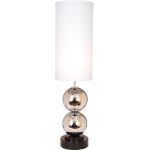 "Around The World Collection 1-Light 38"" Chrome / Black Table Lamps ""Run Around"" 667572"