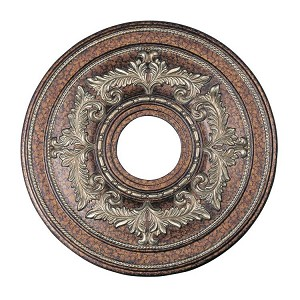 "Livex Lighting 18"" Palacial Bronze Ceiling Medallion with Gilded Accents 8205-64"