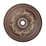 "Livex Lighting 40"" Palacial Bronze Ceiling Medallion with Gilded Accents 8211-64"