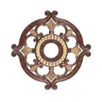 "Livex Lighting 23"" Verona Bronze Ceiling Medallion with Aged Gold Leaf Accents 8216-63"