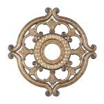"Livex Lighting 23"" Vintage Gold Leaf Ceiling Medallion 8216-65"