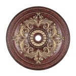 "Livex Lighting 48"" Verona Bronze Ceiling Medallion with Aged Gold Leaf Accents 8228-63"