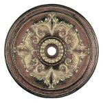 "Livex Lighting 48"" Palacial Bronze Ceiling Medallion with Gilded Accents 8228-64"