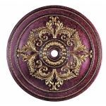 "Livex Lighting 60"" Verona Bronze Ceiling Medallion with Aged Gold Leaf Accents 8229-63"