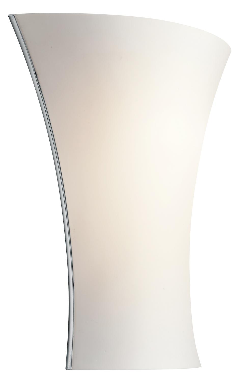 Wall Sconce No Light : Kichler Kichler 10695Ch Chrome Modern 11.25