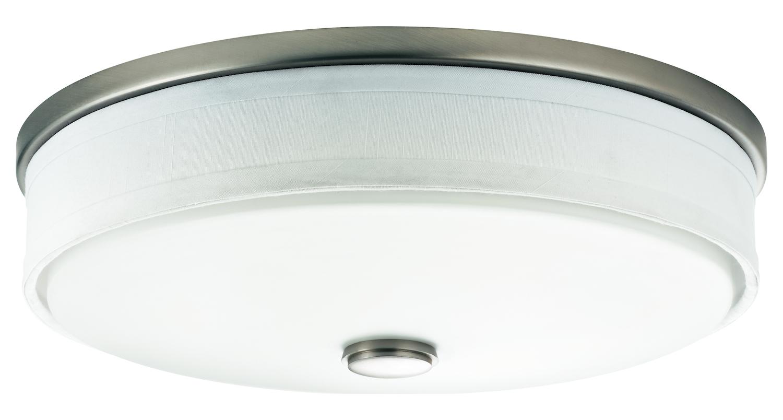Kichler 45629pn Stelata Contemporary Polished Nickel 3: Kichler Brushed Nickel Santiago 3 Light Flush Mount Indoor
