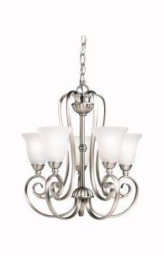 Kichler Brushed Nickel Willowmore Single-Tier Mini Chandelier With 5 Lights