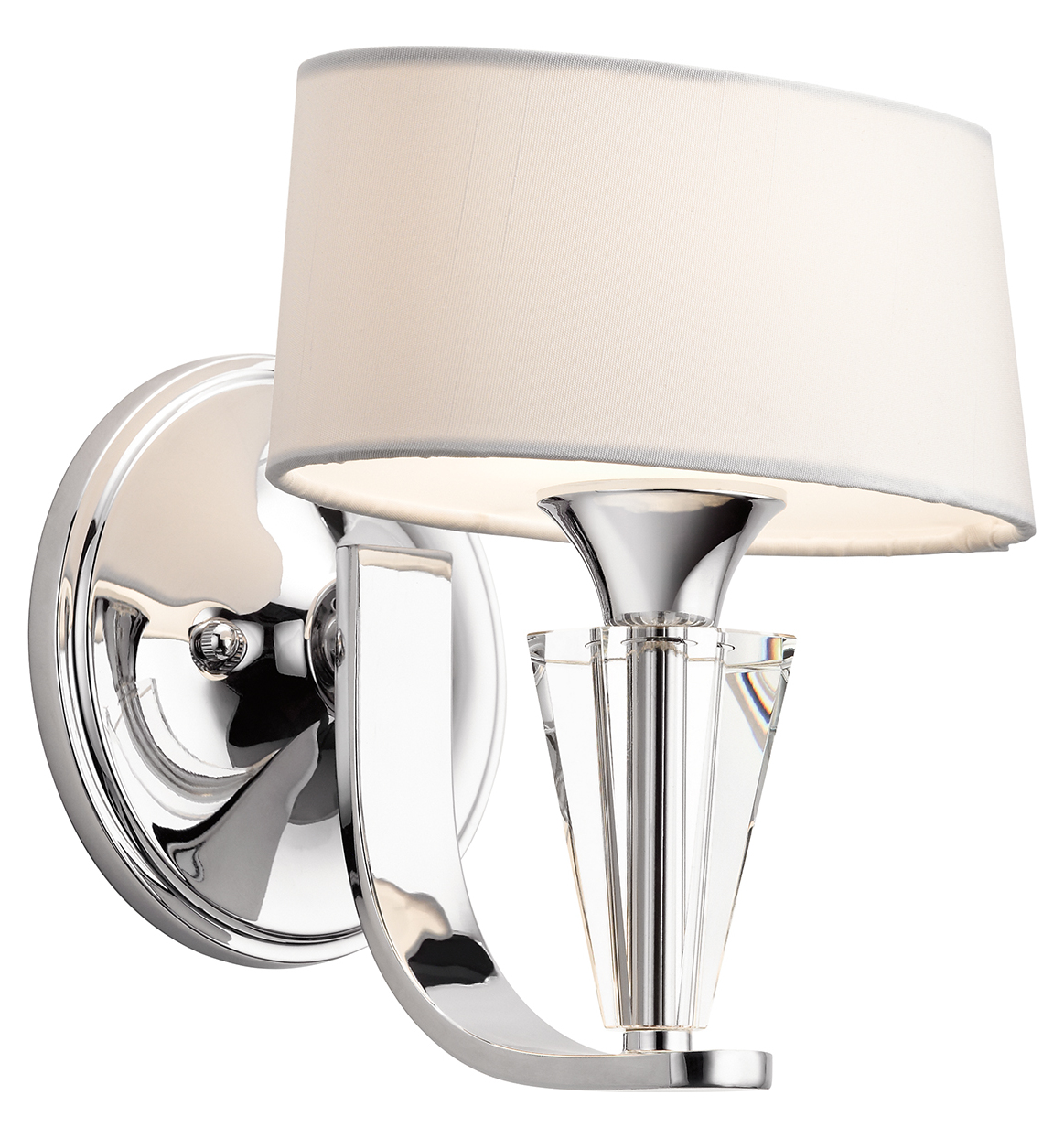 Kichler Chrome Modern 1 Light Up Lighting Wall Sconce