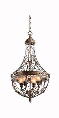 Kichler Terrene Bronze Marchesa 2-Tier Cage-Style Chandelier With 4 Lights