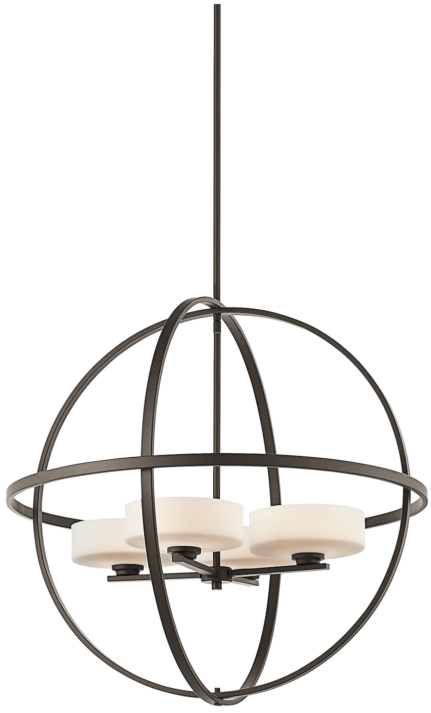 Kichler Four Light Olde Bronze Up Chandelier