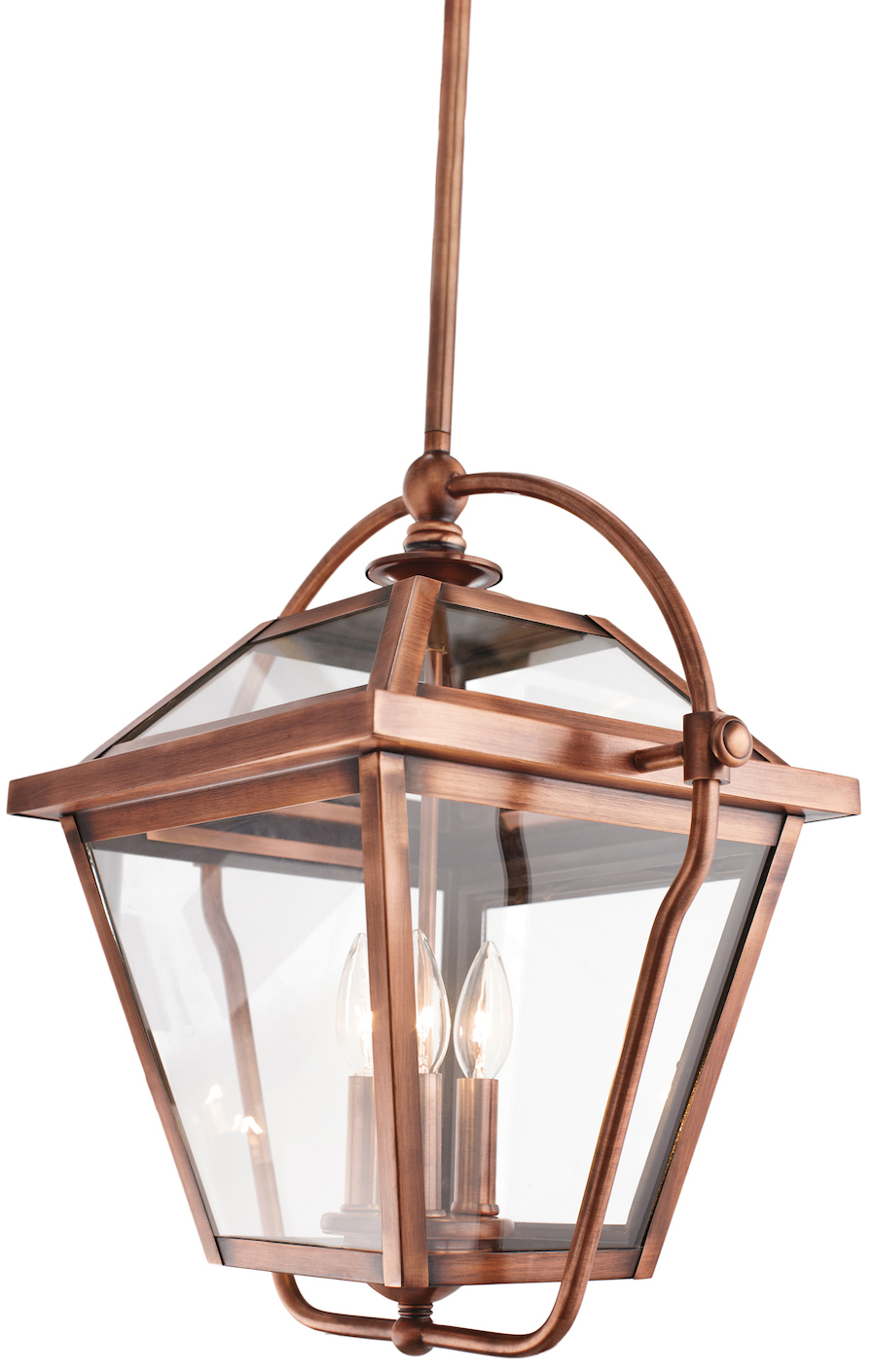 Kichler Antique Copper Ryegate 3 Bulb Indoor Pendant With