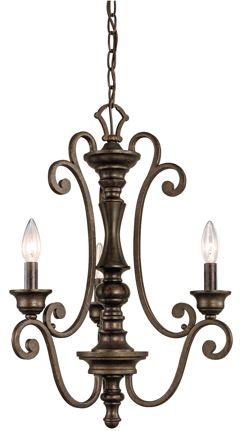 Kichler Terrene Bronze Mithras Single Tier Candle Style