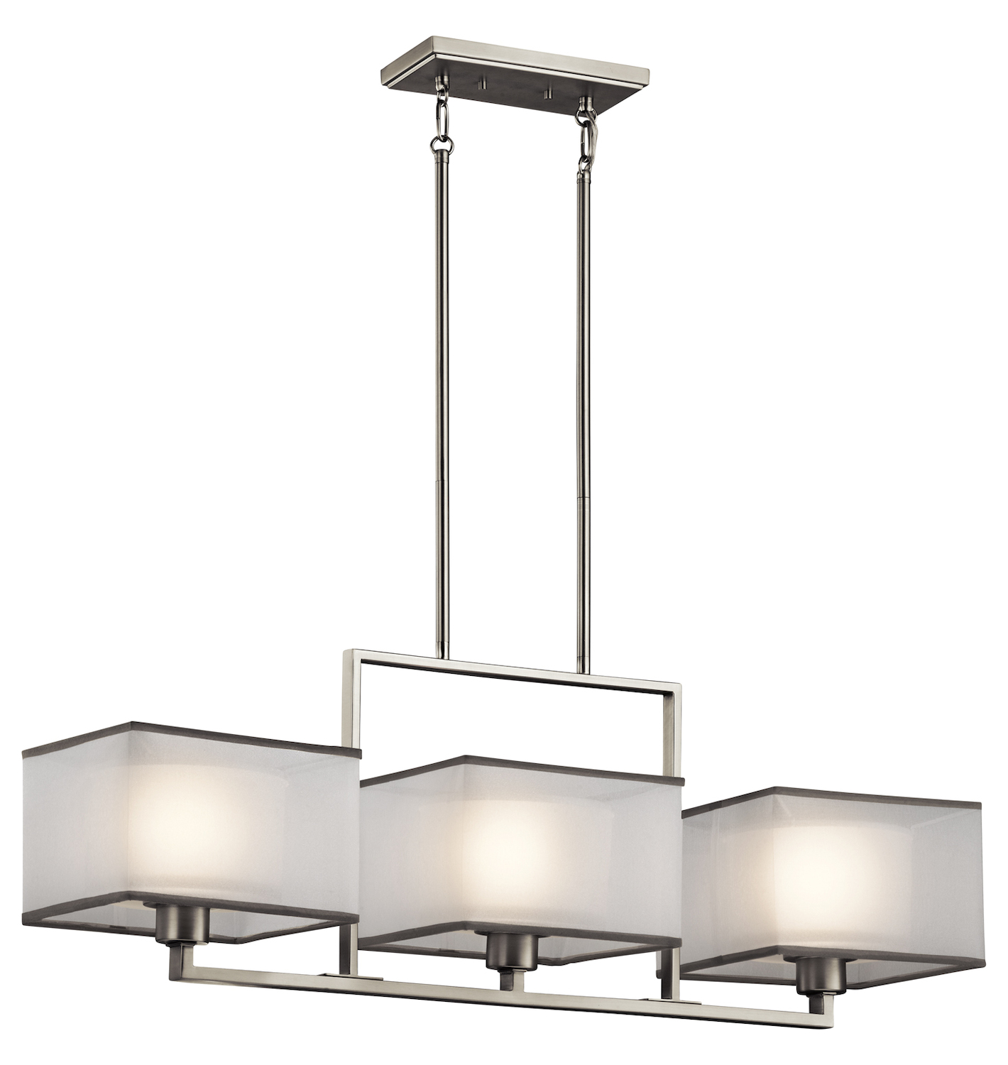 Kichler Kichler 43437Ni Brushed Nickel Kailey 1 Tier Chandelier With 3-Lights