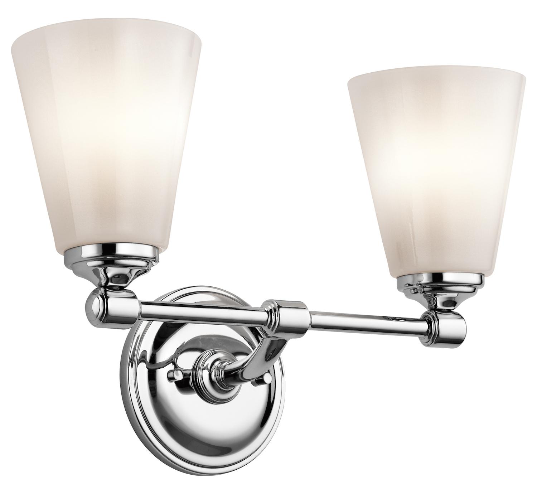Kichler Kichler 45518ch Chrome Ashbrook 15 Wide 2 Bulb Bathroom Lighting Fixture Chrome 45518ch