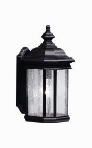 Kichler Black (Painted) Kirkwood Collection 1 Light 17In. Outdoor Wall Light