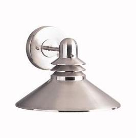Kichler Brushed Nickel Grenoble Collection 1 Light 8In. Outdoor Wall Light