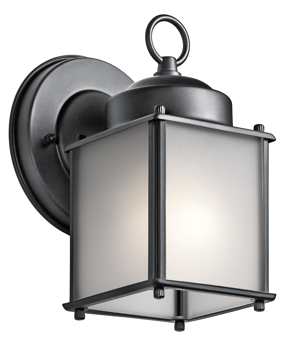 Kichler Black 1 Light 8In. Outdoor Wall Light