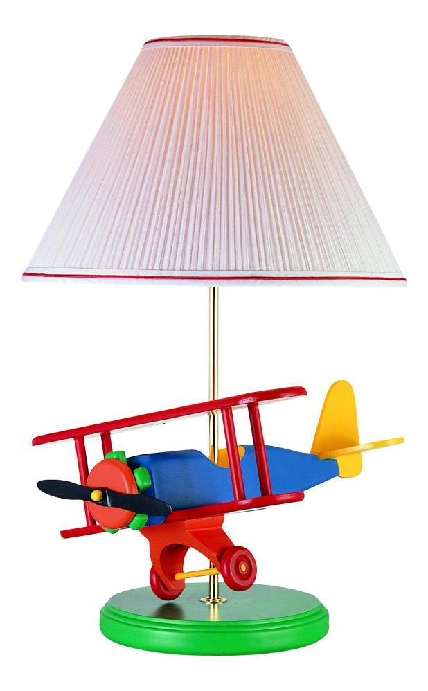 Lite Source Inc. Multi Color Children Kids Airplane Bi-Plane Table Lamp