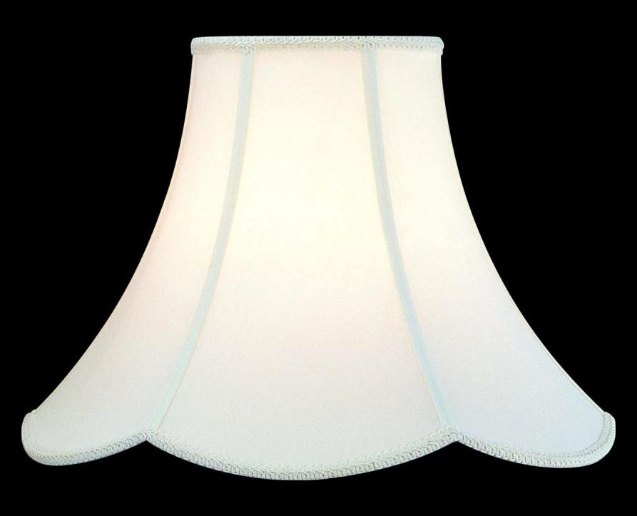 Lite Source Inc White Scallop Bottom 1 Height Large White