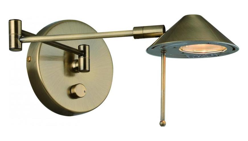 Lite Source Inc. Antique Brass Swing Arm Wall Sconce From The Rhine Collection