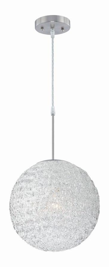 Lite Source Inc. Steel 1 Light Pendant Lamp With Clear Acrylic Shade