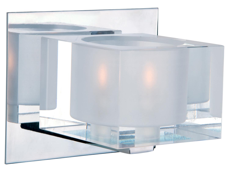 Maxim One Light Polished Chrome Clear Glass Bathroom Sconce Polished Chrome 10001clpc From Cubic