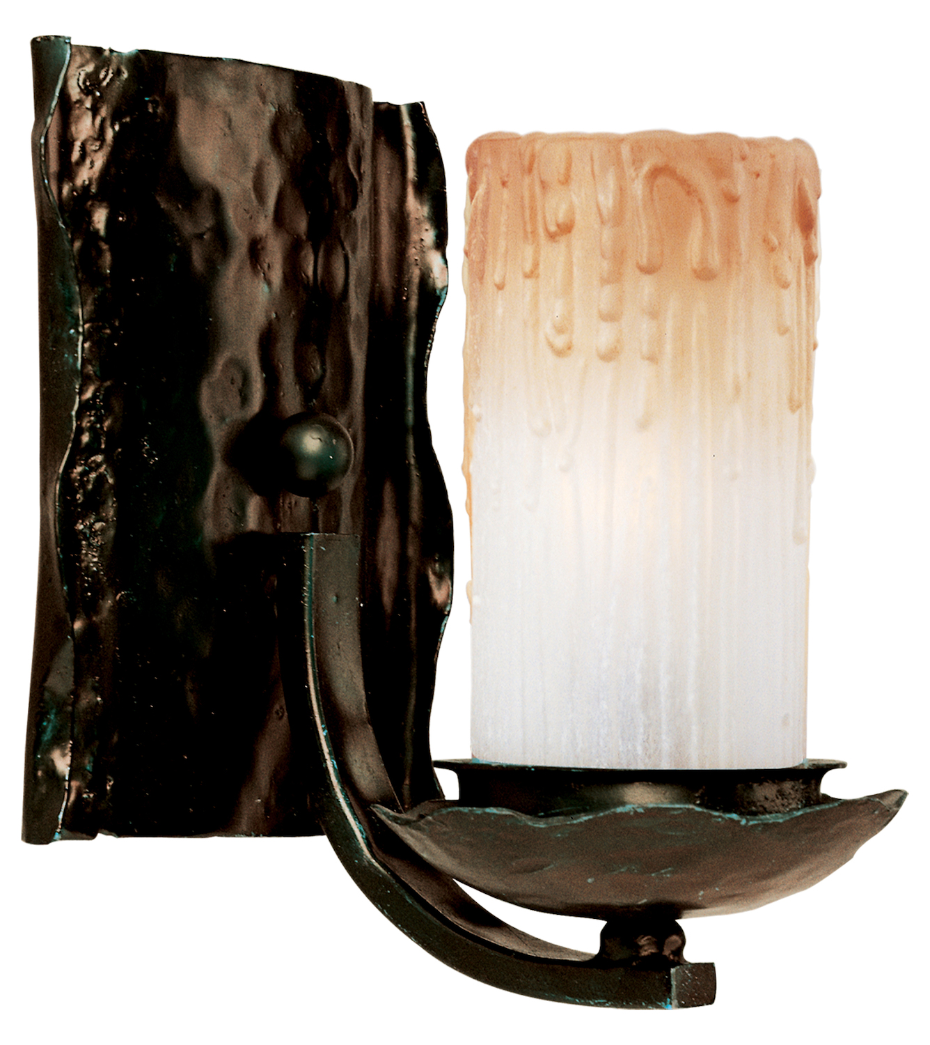 Maxim One Light Oil Rubbed Bronze Wilshire Glass Wall Light