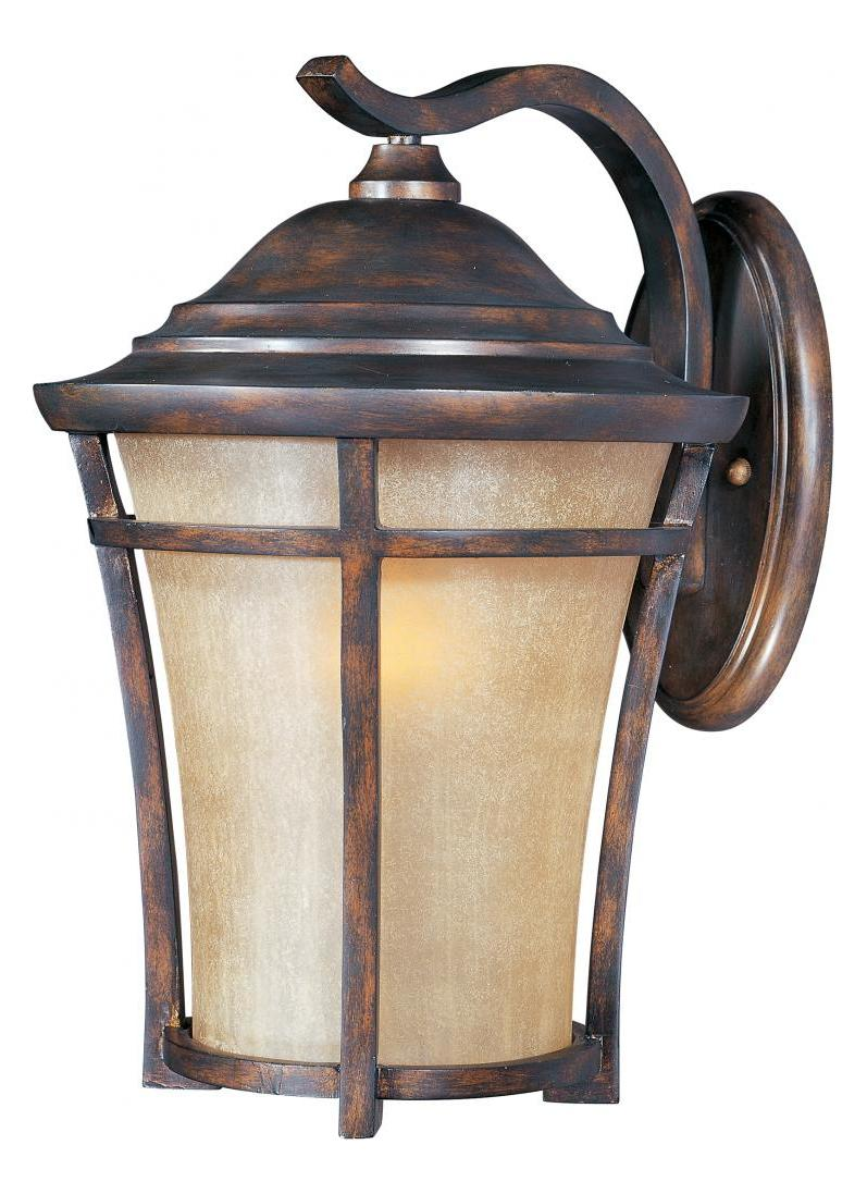 Maxim One Light Copper Oxide Golden Frost Glass Wall Lantern