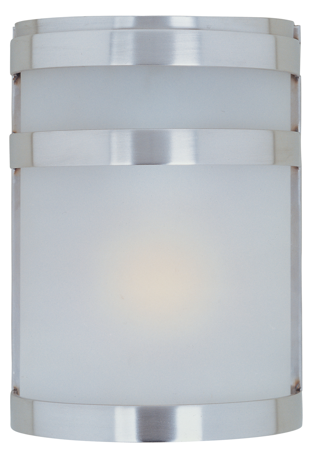 Maxim One Light Frosted Glass Stainless Steel Outdoor Wall Light
