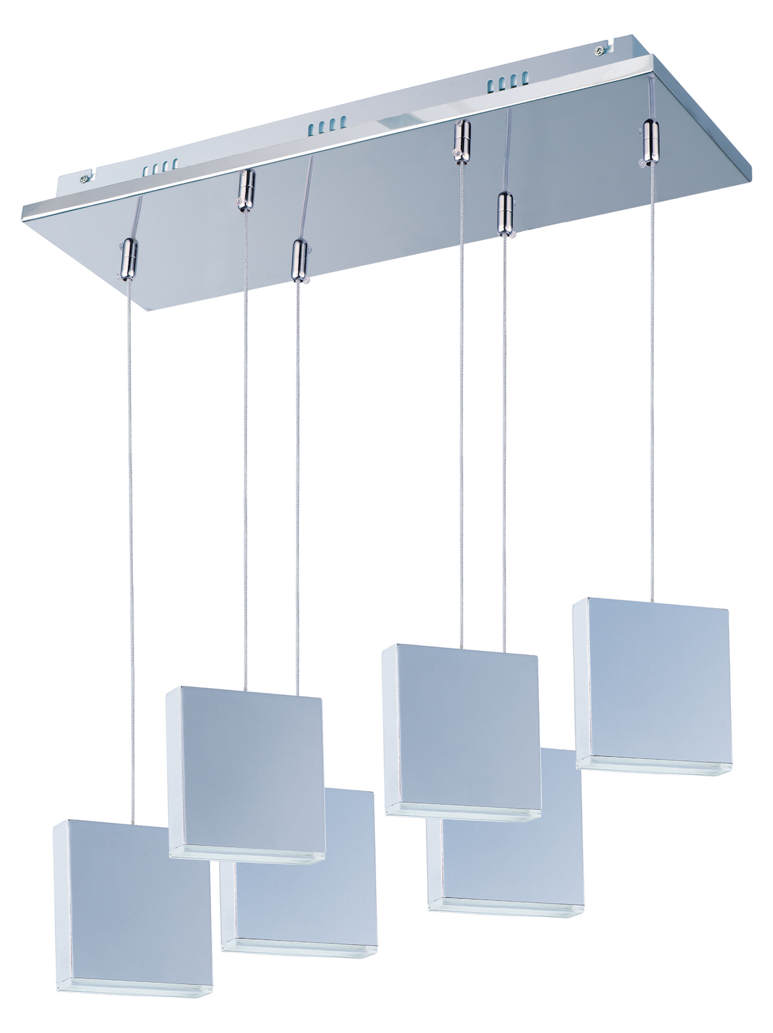 Et2 Brick 6 Light Led Pendant Polished Chrome E22266 61pc