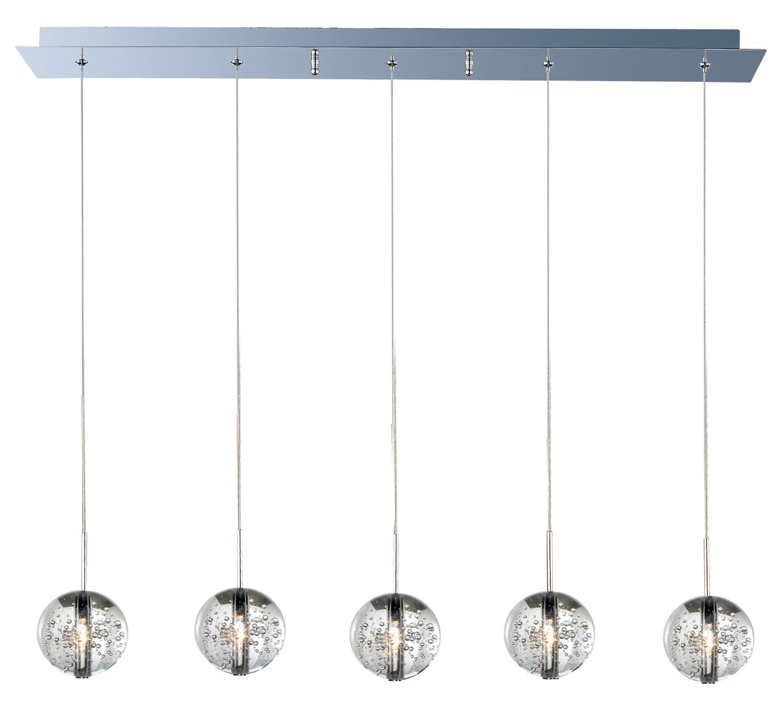 Et2 Orb 5 Light Pendant Polished Chrome E24257 91pc From