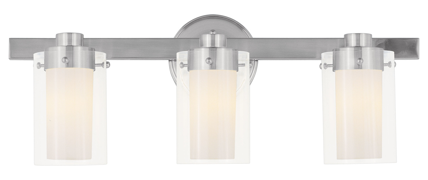 "Progress Lighting Rizu Collection 3 Light Brushed Nickel: Livex Lighting Brushed Nickel 3 Light 180 Watt 22.5"" Wide"