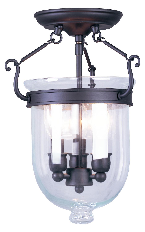 Foyer Semi Flush Mount Lighting : Livex lighting bronze foyer hall semi flush mount