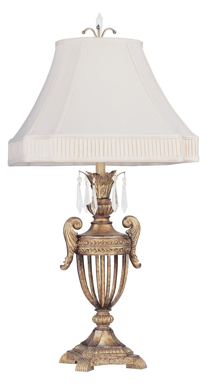 Livex Lighting Vintage Gold Leaf Table Lamp Vintage Gold