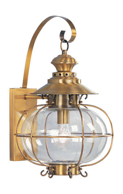 Livex Lighting Flemish Brass Wall Lantern