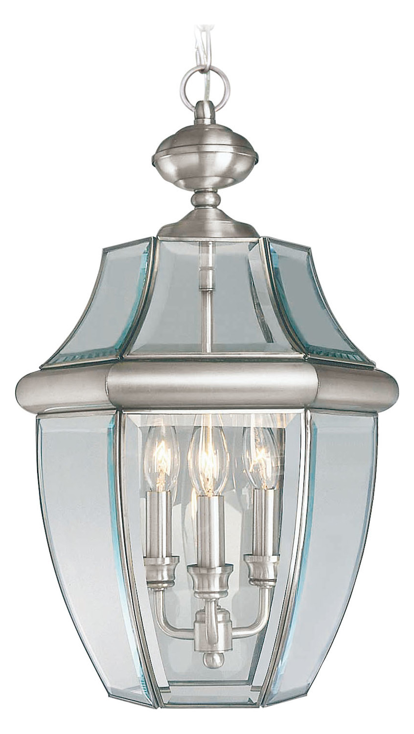 Foyer Chandelier Brushed Nickel : Livex lighting brushed nickel outdoor foyer hall fixture