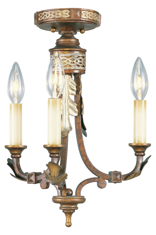 Livex Lighting Palacial Bronze Bristol Manor 3 Light Semi