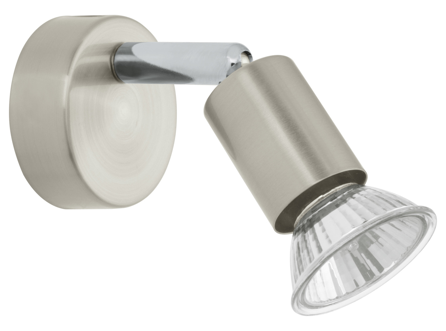 Eglo Nickel and Chrome Buzz Single-Light Wall Sconce