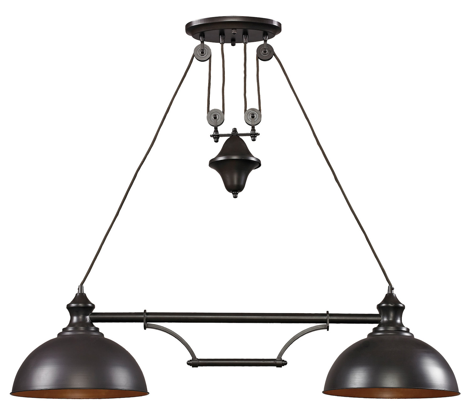 ELK Lighting Two Light Oiled Bronze Pool Table Light Oiled