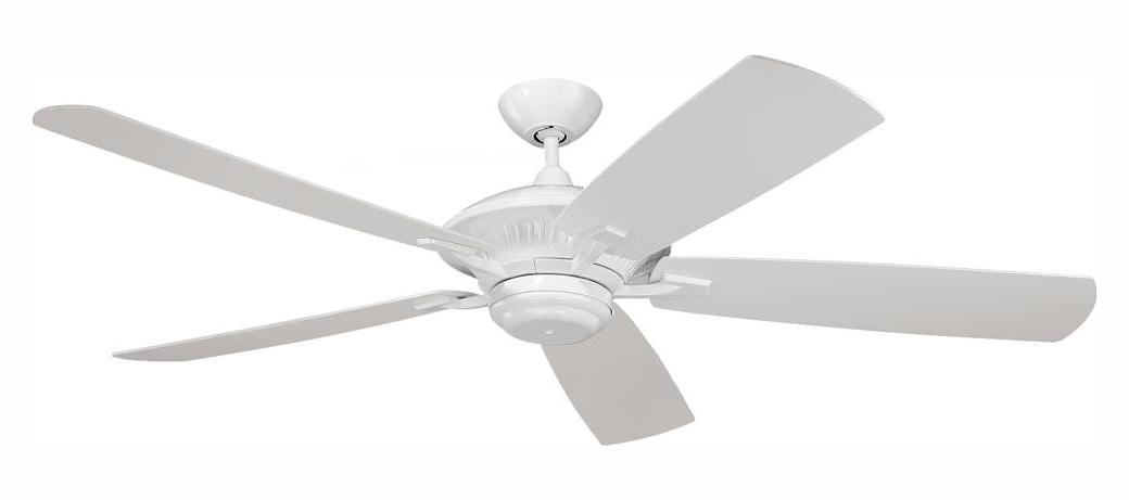 Monte Carlo Cyclone 60 Inch 5 Blade Outdoor Ceiling Fan White 5cy60wh From Cyclone Collection
