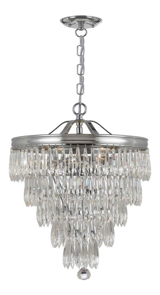 Crystorama Polished Chrome Chloe 3 Light Pendant