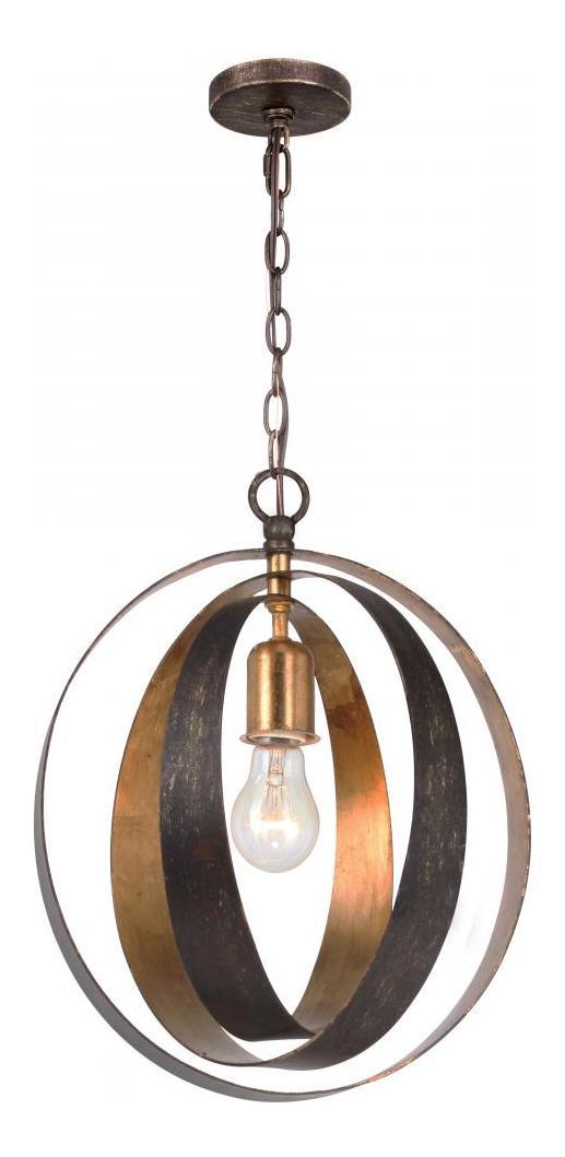 Crystorama English Bronze Antique Gold Luna 1 Light