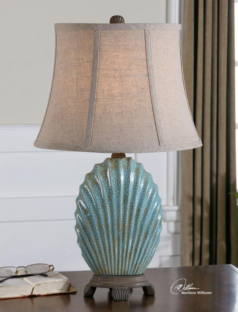Uttermost Crackled Blue Seashell Table Lamp Crackled Blue