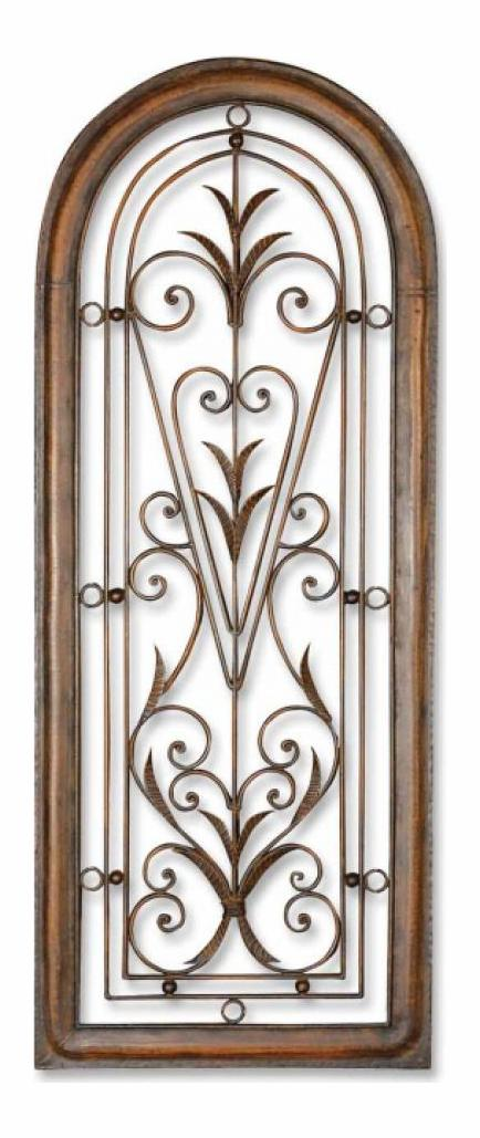 Uttermost Cristy Petite Arched Scroll And Leaf Wall Art